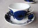 Gustavsberg Bla Aster cup & saucer 2